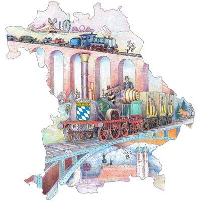Das Bayern-Ticket der Deutschen Bahn bringt Sie bequem und günstig durch den Freistaat.