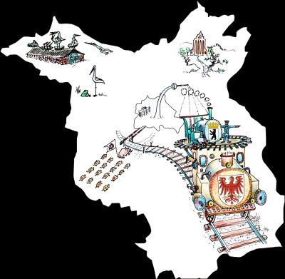 Mit dem Brandenburg-Berlin-Ticket reisen Sie günstig und entspannt durch Berlin und Brandenburg. Ganz wie auf dieser Karte zu sehen.