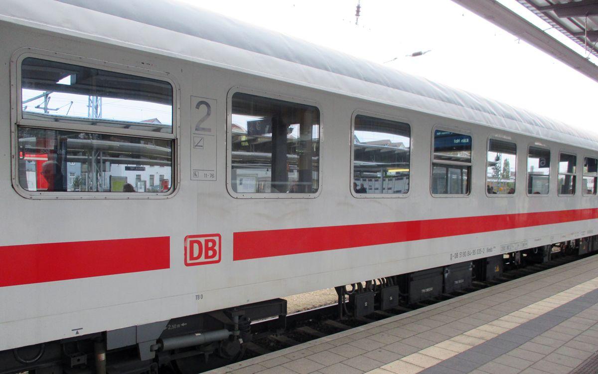 2. Klasse IC Waggon der Deutschen Bahn