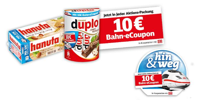 duplo & hanuta 10€ Bahn Gutschein