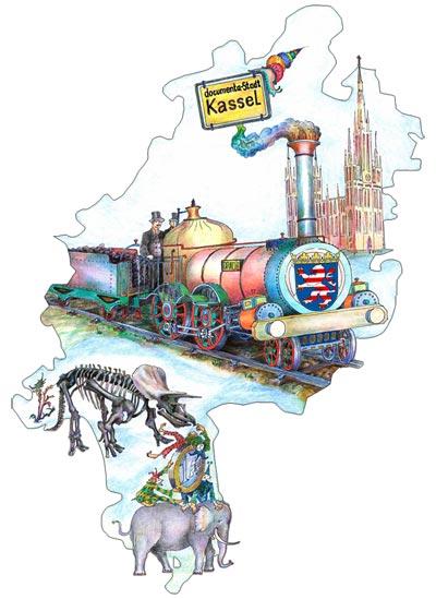 Mit dem Hessenticket reisen Sie einen ganzen Tag lang vom Metropole zu Metropole in ganz Hessen.