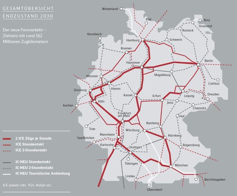 Der neue Fernverkehr - Zielnetz mit rund 162 Millionen Zugkilometern