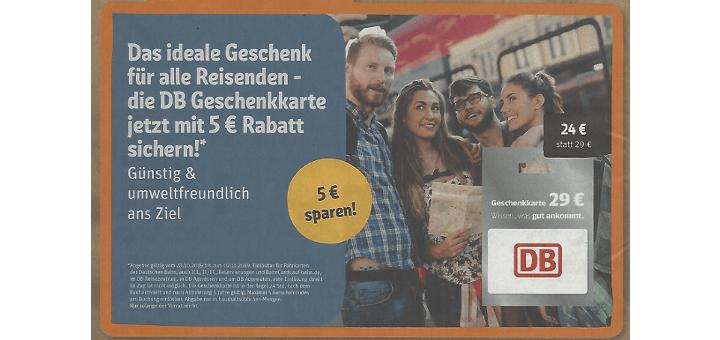 REWE DB Geschenkkarte - Gutscheinkarte für DB Tickets