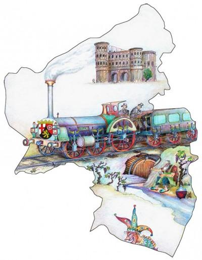 Mit dem Rheinland-Pfalz-Ticket fahren Sie einen ganzen Tag lang mit der Deutschen Bahn günstig durch das Rheinland und die Pfalz.