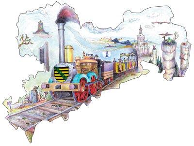 Mit dem Sachsen-Ticket reisen Sie bequem und günstig durch den Freistaat Sachsen und entdecken Metropolen wie Dresden und Leipzig.