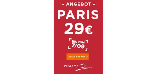 Thalys Paris Angebot für 29€ nach Paris
