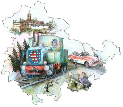 Mit dem Thüringen Ticket reisen Sie mit bis zu fünf Personen einen ganzen Tag lang günstig und bequem durch Thüringen.